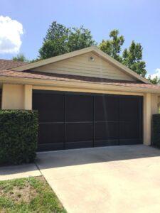Screened Garage Door Enclosure