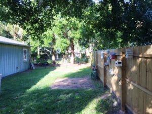 Fenced Rear Yard View 2