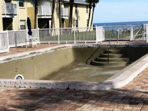 Pool Resurfacing in Progress